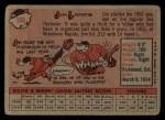 1958 Topps #108 YT Jim Landis  Back Thumbnail