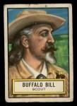 1952 Topps Look 'N See #54  Buffalo Bill  Front Thumbnail