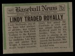1974 Topps Traded #182 T  -  Lindy McDaniel Traded Back Thumbnail