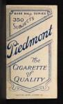 1909 T206 POR George Mullin  Back Thumbnail