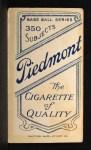 1909 T206 BOS Peaches Graham  Back Thumbnail