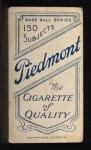 1909 T206  Joe Birmingham  Back Thumbnail