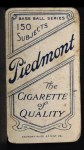1909 T206 POR Roger Bresnahan  Back Thumbnail