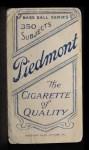 1909 T206  Rebel Oakes  Back Thumbnail