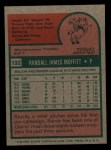 1975 Topps Mini #132  Randy Moffitt  Back Thumbnail
