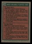 1975 Topps Mini #198   -  Roger Maris / Dick Groat 1960 MVPs Back Thumbnail