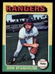 1975 Topps Mini #493  Don Stanhouse  Front Thumbnail