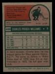 1975 Topps Mini #449  Charlie Williams  Back Thumbnail