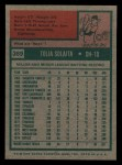 1975 Topps Mini #389  Tony Solaita  Back Thumbnail