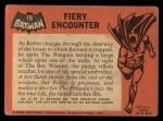 1966 Topps Batman Black Bat #19   Fiery Encounter Back Thumbnail