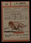 1962 Topps #153  J.D. Smith  Back Thumbnail