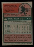 1975 Topps Mini #179  Tom Bradley  Back Thumbnail