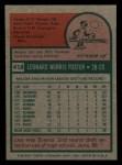 1975 Topps Mini #418  Leo Foster  Back Thumbnail