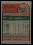 1975 Topps Mini #269  Doug Rau  Back Thumbnail