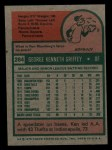 1975 Topps Mini #284  Ken Griffey  Back Thumbnail