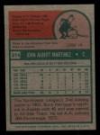 1975 Topps Mini #314  Buck Martinez  Back Thumbnail