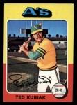 1975 Topps Mini #329  Ted Kubiak  Front Thumbnail