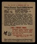 1948 Bowman #44  Paul Christman  Back Thumbnail