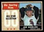 1968 Topps #377   -  Joe Horlen All-Star Front Thumbnail