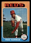 1975 Topps Mini #396  Fred Norman  Front Thumbnail