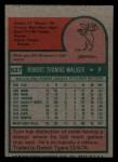 1975 Topps Mini #627  Tom Walker  Back Thumbnail