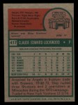 1975 Topps Mini #417  Skip Lockwood  Back Thumbnail