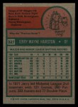 1975 Topps #327  Jerry Hairston  Back Thumbnail