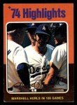 1975 Topps Mini #6  Mike Marshall  Front Thumbnail