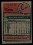 1975 Topps Mini #254  Mike Torrez  Back Thumbnail