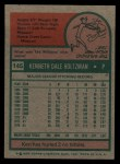 1975 Topps #145  Ken Holtzman  Back Thumbnail