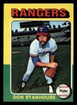 1975 Topps Mini #493  Don Stanhouse  Front Thumbnail