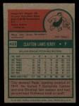 1975 Topps Mini #423  Clay Kirby  Back Thumbnail