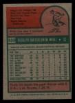1975 Topps Mini #533  Rudy Meoli  Back Thumbnail