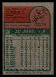 1975 Topps Mini #540  Lou Brock  Back Thumbnail