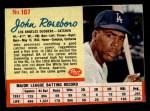 1962 Post #107  John Roseboro   Front Thumbnail