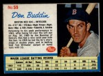 1962 Post #59  Don Buddin   Front Thumbnail