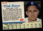 1962 Post #21  Dick Brown   Front Thumbnail