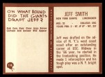 1967 Philadelphia #118  Jeff Smith  Back Thumbnail
