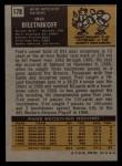 1971 Topps #178  Fred Biletnikoff  Back Thumbnail