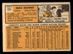 1963 Topps #224 COR Mike Roarke  Back Thumbnail