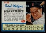 1962 Post #58  Frank Malzone   Front Thumbnail