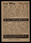 1954 Parkhurst #85  Larry Wilson  Back Thumbnail