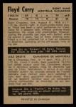 1954 Parkhurst #15  Floyd Curry  Back Thumbnail