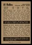 1954 Parkhurst #77  Al Rollins  Back Thumbnail