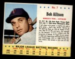 1963 Jello #7  Bob Allison  Front Thumbnail