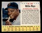 1963 Jello #106  Willie Mays  Front Thumbnail