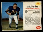 1962 Post #169  Jack Pardee  Front Thumbnail