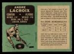 1970 O-Pee-Chee #84  Andre Lacroix  Back Thumbnail