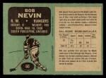 1970 O-Pee-Chee #60  Bob Nevin  Back Thumbnail