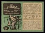 1970 O-Pee-Chee #200  Les Binkley  Back Thumbnail